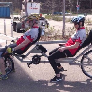 "Recumbent Tandem ""TWOgether One "" - YouTube"