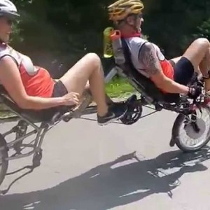 Recumbent Tandem ride with TWOgether - YouTube