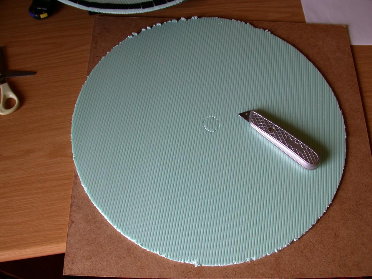 """der rohling. material: trittschalldämmplatten """"selitac"""" 5mm"""